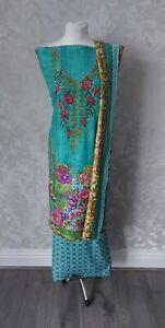 Kameez Salwar Suit Pakistani Indian Dress Casual Designer Linen
