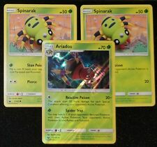 3x LOT Ariados HOLO 2 Spinarak  CELESTIAL STORM - DECK BUILDERS Pokemon Cards