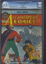 ALL AMERICAN COMICS #38 CGC VF-: 7.5 White pages!!
