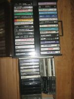 Lot of 45 Cassette Tapes in Case ~ 10 Uncased - Mixed 80's and 90's