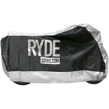RYDE LARGE SILVER WATERPROOF MOTORCYCLE COVER BIKE/MOTORBIKE RAIN PROTECTOR L