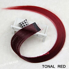 """24"""" Seamless Straight Synthetic Hair Extension Clip In On Party - Multiple Color"""