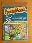 Vintage Presto Magix Around The World in 80 Days Dry Transfer Game PaperMate NOS