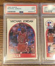 1989 Hoops MICHAEL JORDAN #200 PSA MINT 9 ~ NBA ALL TIME #1 RANKED GOAT 🔥 Bulls