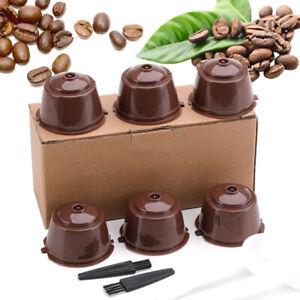 6 Stück Nachfüllbare Wiederverwendbare Kaffeekapseln Für Nescafe Dolce Gusto