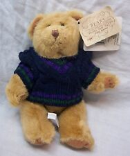 "RUSS Bears from the Past TAN TEDDY BEAR IN SWEATER 7"" Plush STUFFED ANIMAL NEW"