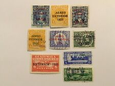 old stamps  GUATEMALA   x 9 air post