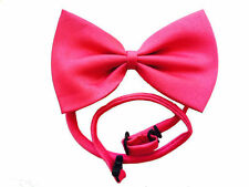 NEW HOT PINK Bow Tie Fabric with Adjustable Strap Unisex Mens Formal Mardi Gras