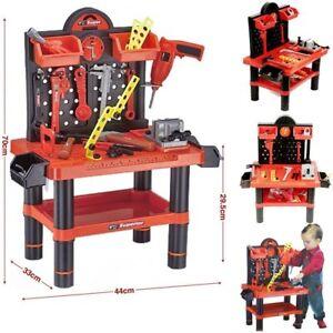 Childrens 52/54pc Tool Bench PlaySet Work Shop Tools Kit Boys Kids Workbench Toy
