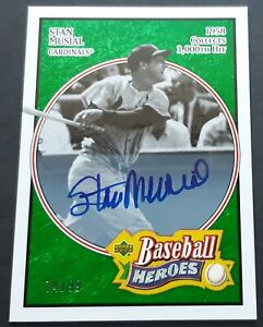 STAN MUSIAL 2005 UD BASEBALL HEROES AUTO /99 ST LOUIS CARDINALS AUTOGRAPH