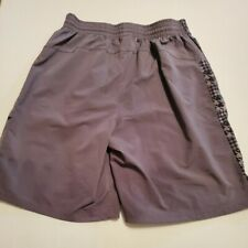 UNDER ARMOUR UA Men's Size Large Shorts Gray w/Digital Print RN 96510 9.5 inch