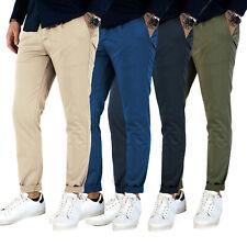 Pantaloni uomo estivi tasche america slim fit blu beige verde MADE IN ITALY
