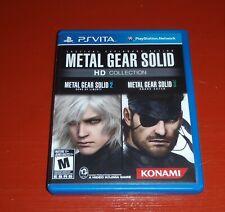 Metal Gear Solid HD Collection (Sony PlayStation Vita, 2012) -No Manual