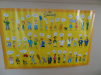 THE SIMPSONS CATCHPHRASE POSTER 24 X 36 HOMER, BART & ALL THE SIMPSONS.