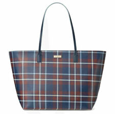 NEW NWT Kate Spade Shore Street Margareta XL Tote  in Travel Plaid Zip Top