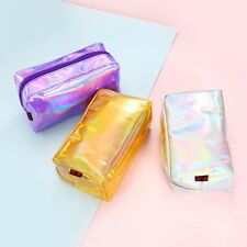 Holographic Pencil Case Cosmetic Fashion Makeup Pouch Storage Zipper Purse Bag
