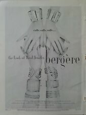 1955 Beegere real jewelry armful gold bracelets slave cuffs vintage ad