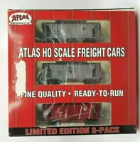 Atlas HO PS-2 Covered Hopper 2 Bay 3 Pack Jersey Central 1101