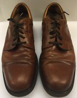 Johnston & Murphy Casual Cap Toe Oxfords Brown Leather Made In Italy Men 12 M D