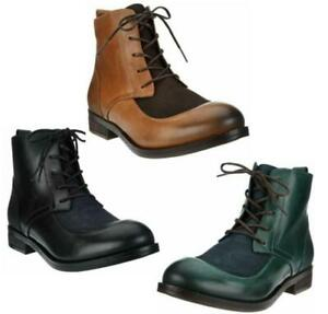 Fly London Women Combat Boots Arty 077 Leather