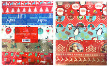 10 Christmas Gift Warp Wrapping Paper Sheets Xmas Cute Reindeer Design Assorted