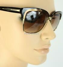 Gucci Brown Gradient Gold Frame Sunglasses Authentic