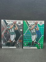 2020 Panini Mosaic Jalen Reagor Green Prizm Nfl debut Rookie #208 Eagles rc
