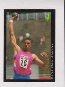 1992 Classic World Class Athletes #53 Dan O'Brien card, low grade
