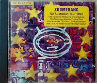 U2 Zooropa CD ZOOMERANG Australian Tour Edition 1993 Rare and Collectible