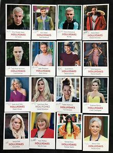 HOLLYOAKS ~ Set of 16 Different Pre-Signed Fan Cast Cards Job Lot **BARGAIN**