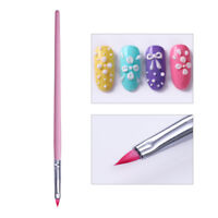 Triangle Tip Nail Brush Pink 3D Nail Art Pen Tools Manicure Design Tips