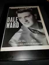 Dale Ward Rare Original Promo Poster Ad Framed!