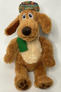 "Kohls Cares Dr. Seuss Go Dog Go 16"" Plush Dog Stuffed Animal Green Scarf Plaid"