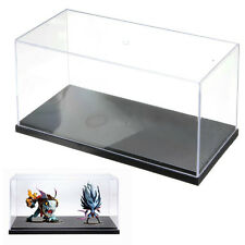26*13*13cm Clear Acrylic Perspex Display Stand Box Case Plastic Base Dustproof