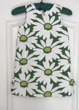 New Gymboree Girls Green White Floral Sz 6 Dress 💯Cotton Fully Lined Sleeveless