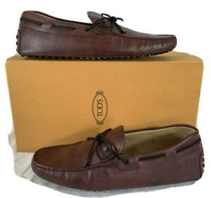 TOD'S Loafers Oxblood/Burgundy Leather Mens Shoes Size 8 US 9 Made in Italy