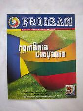 Orig.PRG   WM Qualifikation  06.09.2008   RUMÄNIEN - LITAUEN  !!  SELTEN