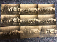 Lot of 9 Real Photo Postcards - 1907-20's NOKO - All Hunting Images