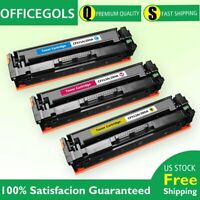 3PK Color Toner For HP CF510A 204A LaserJet Pro M154nw M180nw M181fw MFP Printer