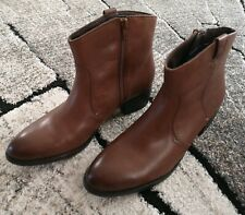 Brown /  Tan TU Comfort Leather Ankle Boots UK 7 EU 41 £40