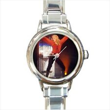 Madonna Round Italian Charm Watch