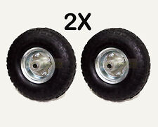"2X REPLACEMENT 10"" PNEUMATIC TROLLEY WHEEL CART BARROW TRUCK SACK TYRE TYRES"
