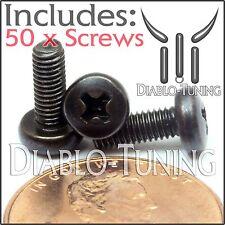 M3 x 8mm - Qty 50 - Phillips Pan Head Machine Screws - DIN 7985 A - Black Steel