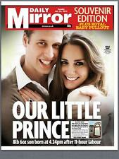 Kate Middleton Birth Of Royal Baby George Alexander 2014 Daily Mirror Newspaper