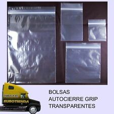 TOP* 100 BOLSAS AUTOCIERRE GRIP (15 X 22 cm)  TRANSPARENTES BOLSAS TRANSPARENTES
