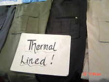 combat cargo fleece lined thermal work trousers NEW WARM WINTER BOTTOMS S - XXXL