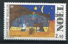 ST-PIERRE-et-MIQUELON, 1992, timbre 571, NOEL, neuf**