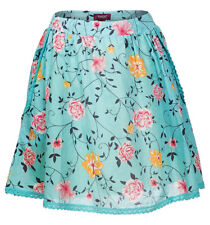 Womens VIAGGIO A-Line Floral Side Pocket Cotton Skirt - Size 8 10 12 14 16 18