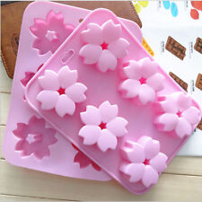 6 Cavity Sakura Soap Mould Silicone Cake Baking Handmade DIY Candle Tool NEW #UK