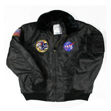 Apollo 17 Nasa Bomber Jacket USAF MA-2 Fur Collar ma-1 NEW